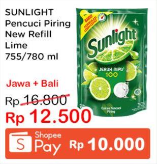 Promo Harga SUNLIGHT Pencuci Piring Jeruk Nipis 100 755 ml - Indomaret