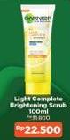 Promo Harga GARNIER Light Complete Brightening Scrub 100 ml - Indomaret