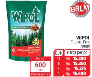 Promo Harga WIPOL Karbol Wangi Cemara 780 ml - Lotte Grosir