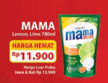 Promo Harga MAMA LEMON Cairan Pencuci Piring 780 ml - Alfamart