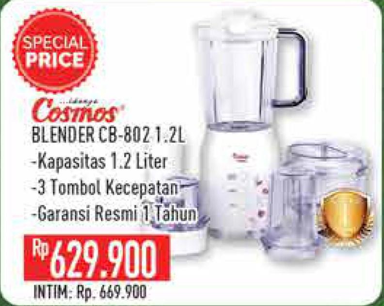 Promo Harga COSMOS CB 802 | Blender 1200 ml - Hypermart