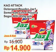 Promo Harga ATTACK Jaz1 Detergent Powder Pesona Segar, Semerbak Cinta 900 gr - Indomaret