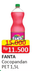 Promo Harga FANTA Minuman Soda Coco Pandan 1500 ml - Alfamart