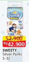 Promo Harga SWEETY Silver Pants S32 32 pcs - Alfamart