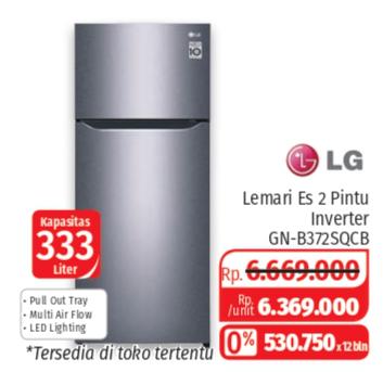 Promo Harga LG GN-B372SQCB | Kulkas 2 Pintu  - Lotte Grosir
