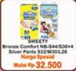 Promo Harga SWEETY SWEETY Silver Pants/Bronze Comfort  - Indomaret