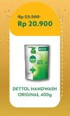Promo Harga DETTOL Hand Wash Anti Bakteri Original 400 ml - Indomaret